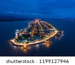 beautiful aerial night view of... | Shutterstock . vector #1199127946