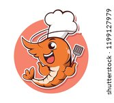 character shrimp take a chef... | Shutterstock .eps vector #1199127979