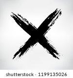 x mark.grunge letter x. | Shutterstock .eps vector #1199135026