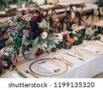 perfect wedding decoration....   Shutterstock . vector #1199135320