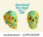 cursed colorful vector low poly ... | Shutterstock .eps vector #1199140339
