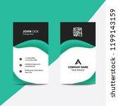 clean flat design green  fold... | Shutterstock .eps vector #1199143159