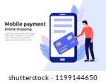 mobile payment online service... | Shutterstock .eps vector #1199144650