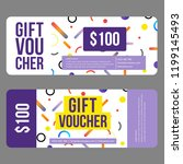 gift voucher template with... | Shutterstock .eps vector #1199145493