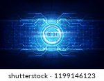 abstract futuristic technology... | Shutterstock .eps vector #1199146123