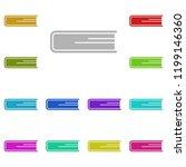 book icon in multi color style. ...