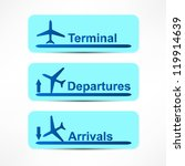 arrival and departures airport... | Shutterstock . vector #119914639