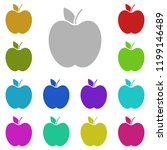 apple icon in multi color style....