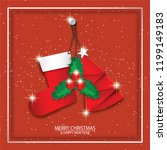 merry christmas and happy new... | Shutterstock .eps vector #1199149183