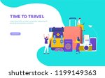 time to travel vector concept...