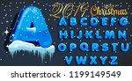 Winter Vector Alphabet With...