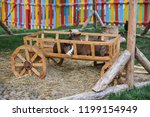 2 goat sitting in the cart.... | Shutterstock . vector #1199154949