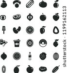 solid black flat icon set stick ... | Shutterstock .eps vector #1199162113