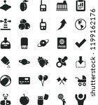 solid black flat icon set check ... | Shutterstock .eps vector #1199162176