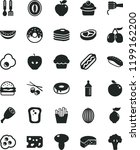 solid black flat icon set... | Shutterstock .eps vector #1199162200