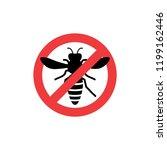 pest control wasp warning symbol | Shutterstock .eps vector #1199162446