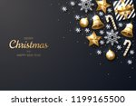 merry christmas background with ... | Shutterstock .eps vector #1199165500