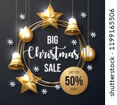 christmas sale banner with... | Shutterstock .eps vector #1199165506