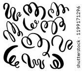 set of hand draw elements ... | Shutterstock .eps vector #1199171296