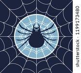 cobweb background. spiderweb... | Shutterstock .eps vector #1199173480
