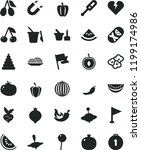solid black flat icon set... | Shutterstock .eps vector #1199174986