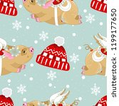 seamless pattern with christmas ... | Shutterstock .eps vector #1199177650