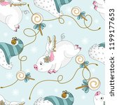 seamless pattern with christmas ... | Shutterstock .eps vector #1199177653