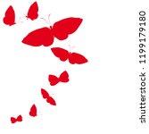 beautiful red butterflies ... | Shutterstock .eps vector #1199179180