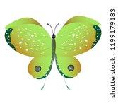 beautiful green butterflies ... | Shutterstock .eps vector #1199179183