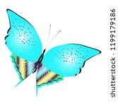 beautiful butterflies  blue... | Shutterstock .eps vector #1199179186