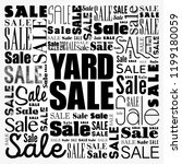 yard sale word cloud collage ... | Shutterstock .eps vector #1199180059
