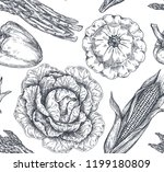 vector seamless pattern with... | Shutterstock .eps vector #1199180809