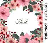 greeting card with flowers ... | Shutterstock .eps vector #1199181400