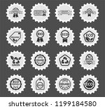 eco label web icons stylized... | Shutterstock .eps vector #1199184580
