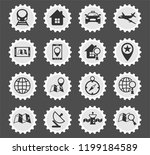 navigation web icons stylized... | Shutterstock .eps vector #1199184589