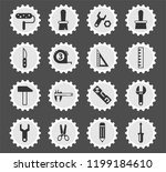 work tools web icons stylized... | Shutterstock .eps vector #1199184610