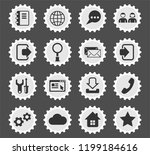 web tools web icons stylized... | Shutterstock .eps vector #1199184616