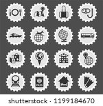 travel web icons stylized...   Shutterstock .eps vector #1199184670