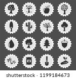 trees web icons stylized...   Shutterstock .eps vector #1199184673