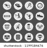 tennis web icons stylized... | Shutterstock .eps vector #1199184676