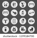 sport web icons stylized... | Shutterstock .eps vector #1199184700