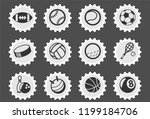 sport balls web icons stylized... | Shutterstock .eps vector #1199184706