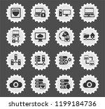 server web icons stylized... | Shutterstock .eps vector #1199184736