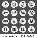 security web icons for user... | Shutterstock .eps vector #1199184766
