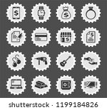 pawn shop web icons stylized... | Shutterstock .eps vector #1199184826