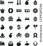 solid black flat icon set... | Shutterstock .eps vector #1199185246
