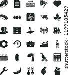 solid black flat icon set heart ... | Shutterstock .eps vector #1199185429