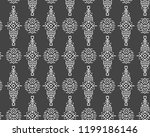 vector seamless pattern in... | Shutterstock .eps vector #1199186146