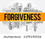 forgiveness word cloud collage  ... | Shutterstock .eps vector #1199190526