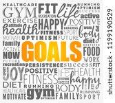goals word cloud collage ... | Shutterstock .eps vector #1199190529